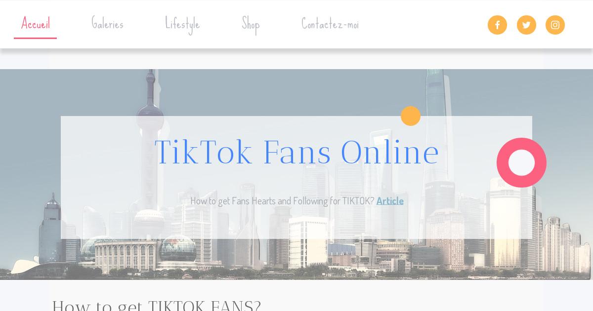 TikTokHearts - Accueil